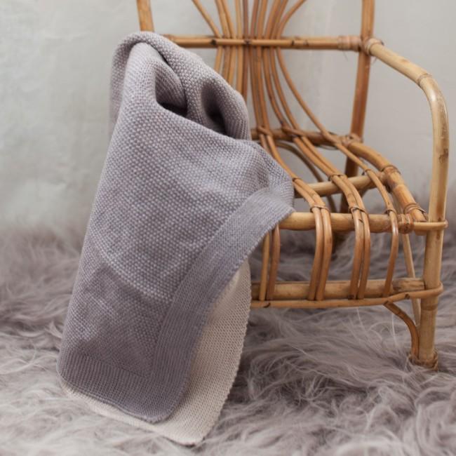 Woli, couverture de bébé gris