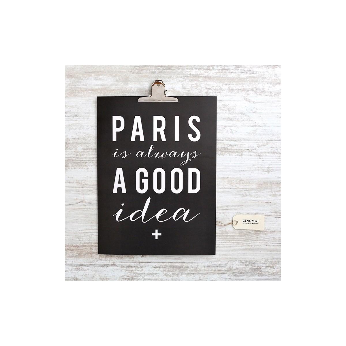 Affiche Paris...