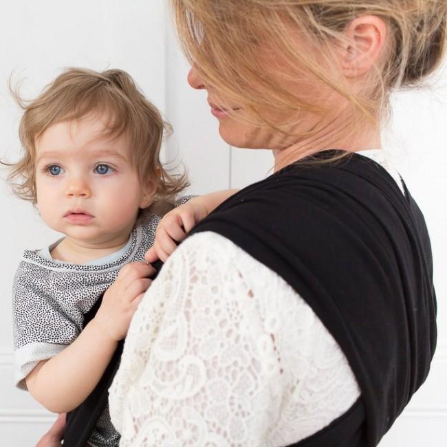 Echarpe porte-bébé black