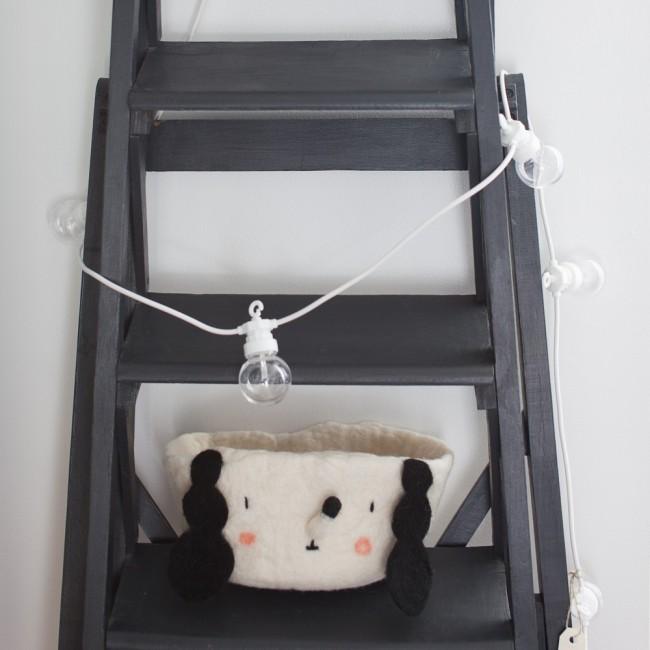 Petite guirlande guinguette blanche