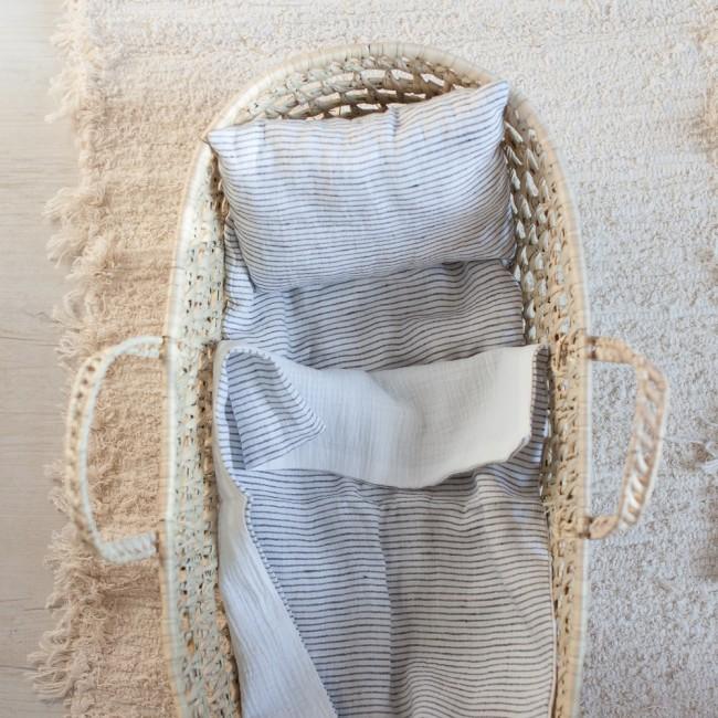 Garniture de couffin en lin