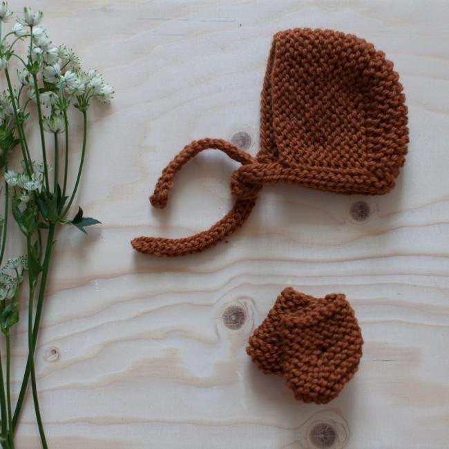 Accessoires en laine terre de sienne