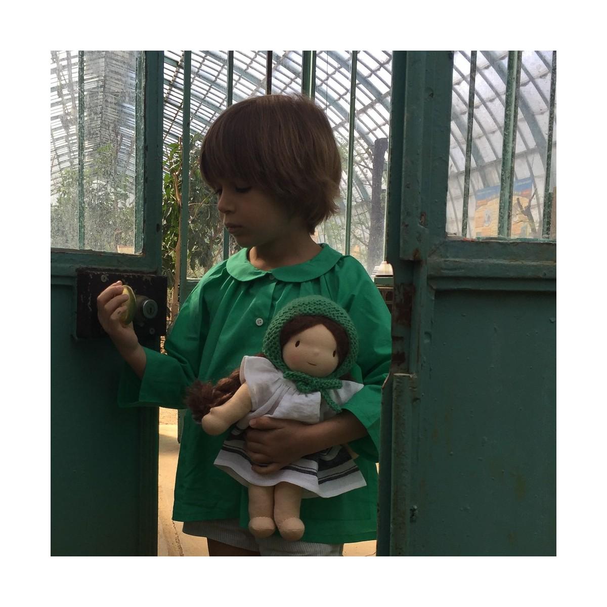 Accessoires en laine verte