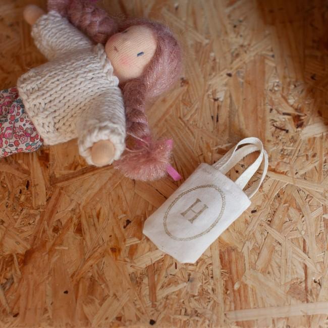 Mini tote bag Happy