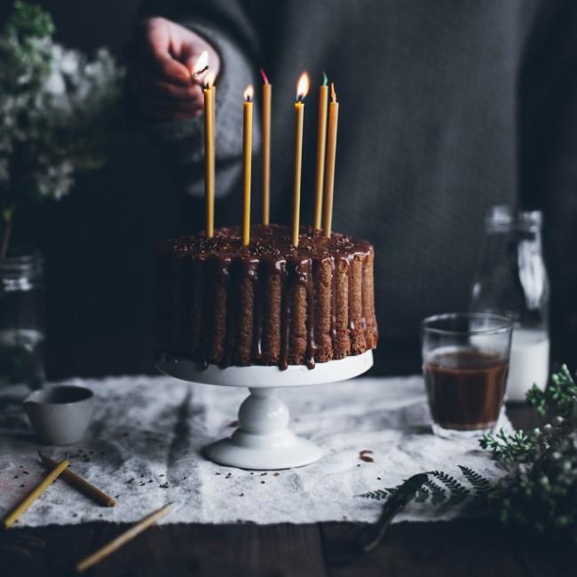 Bougies d'anniversaire en cire d'abeille