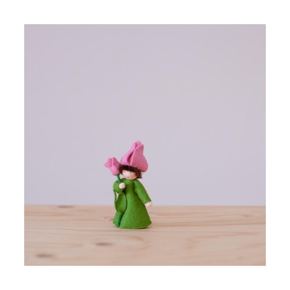 Red Tulip fairy with stem
