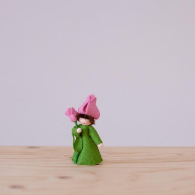 Fée Tulipe rose avec tige