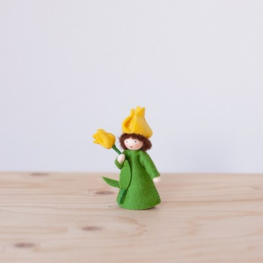 Yellow Tulip fairy with stem