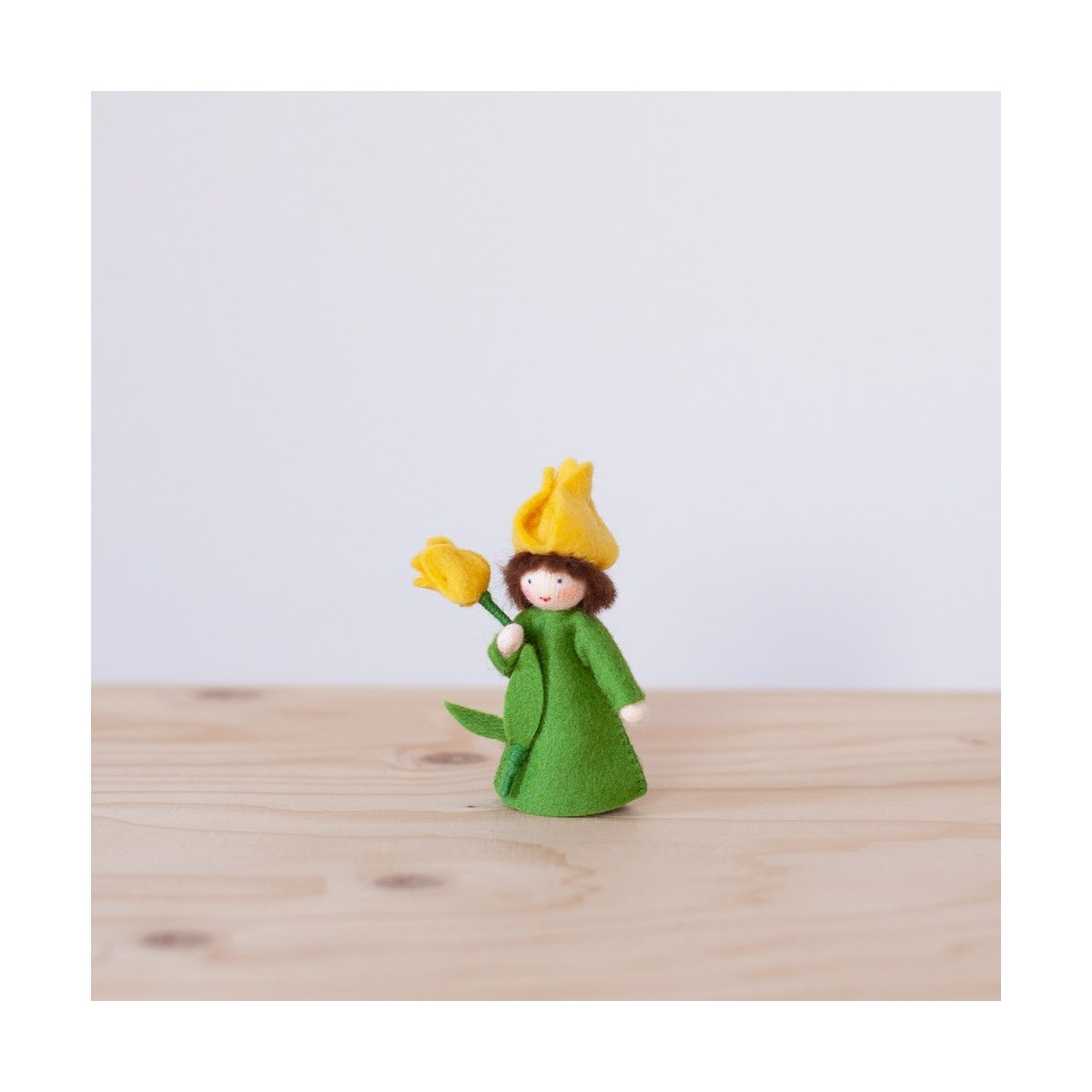 Yellow Tulip fairy with stem
