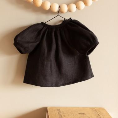 Robe en lin charbon