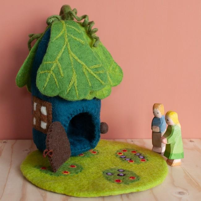 Maison Feuille de chêne en laine feutrée
