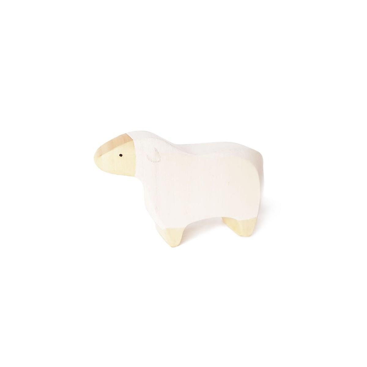 Mouton en bois peint