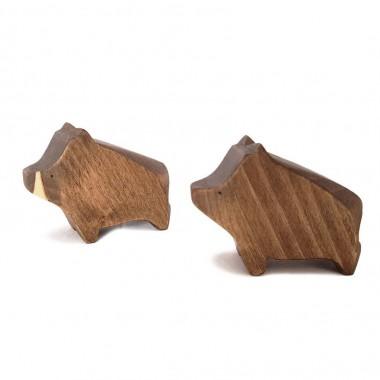 Sanglier en bois