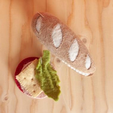 Sandwich en laine feutrée