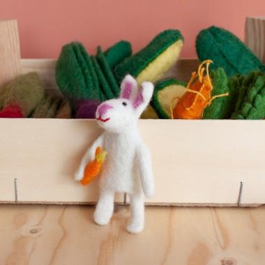 Marionnette à doigt en laine feutrée