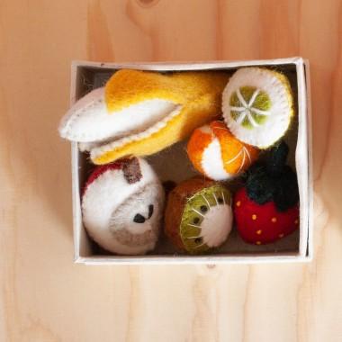 Fruits en laine feutrée