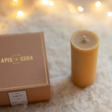 Bougies piliers en cire d'abeille