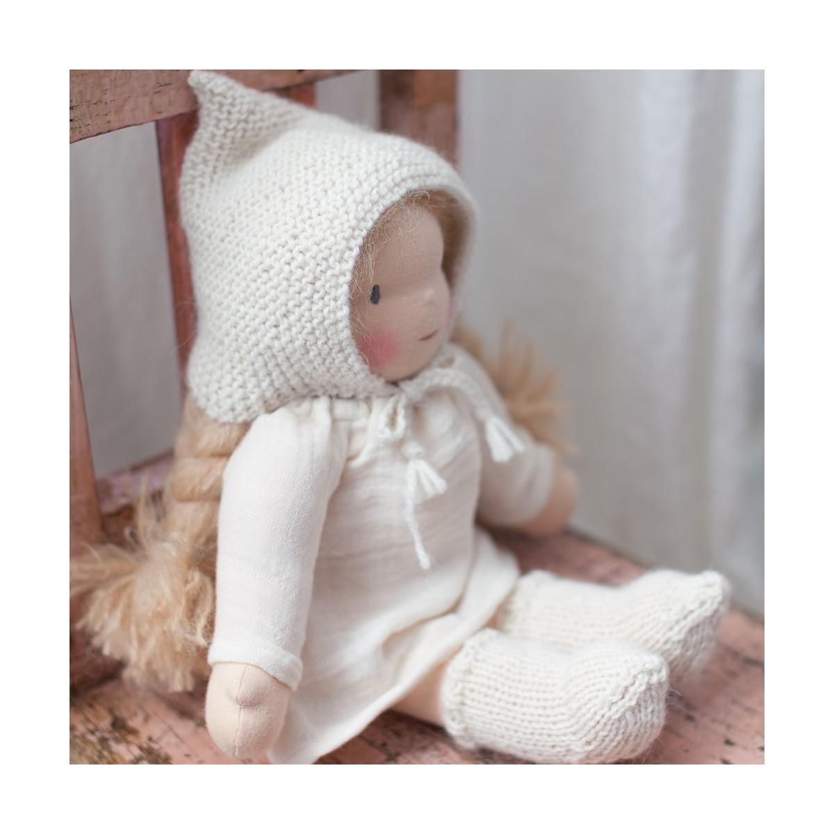 Patron tricot bonnet Pixie et chaussettes pour Happy to see you à télécharger