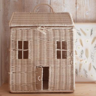 Maison de poupées en osier