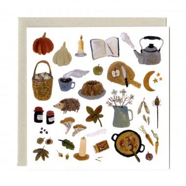 """Carte """"Les trésors d'automne"""""""