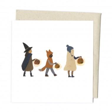 "Carte "" Les amis d'Halloween"""