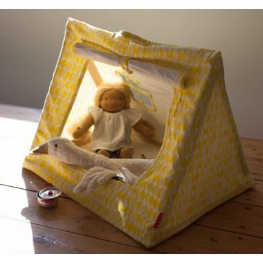 Petite tente jaune